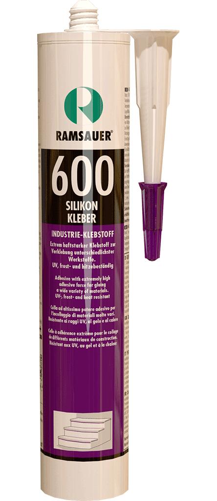 силиконовый эластичный монтажный клей быстрого отверждения -SILIKON KLEBER 600