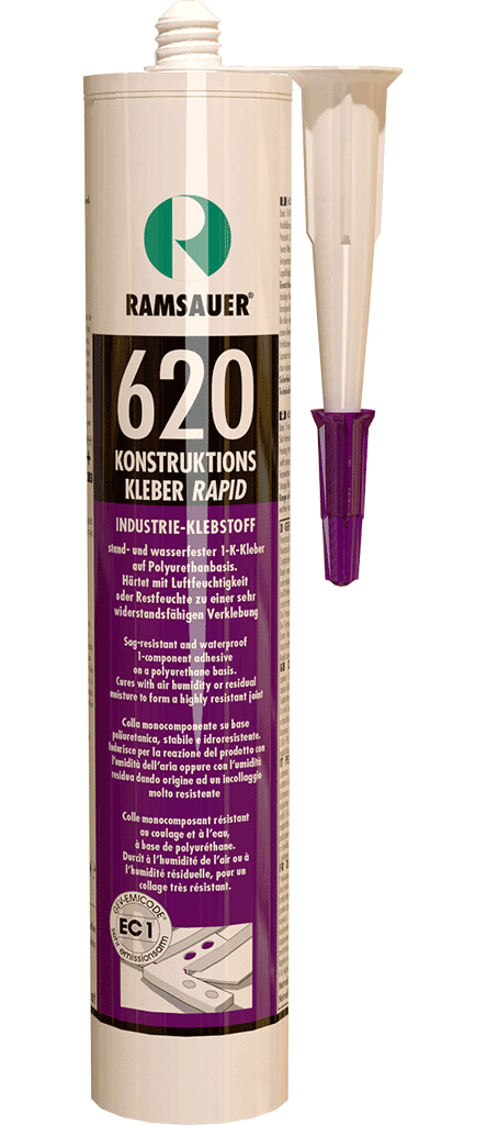 Полиуретановый быстро отвердевающий щелезаполняющий мощный монтажный клей - KONSTRUKTIONS KLEBER RAPID 620