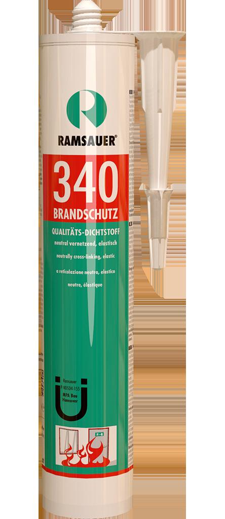 Нейтральный температурастойкий профессиональный силиконовый герметик BRANDSCHUTZ 340