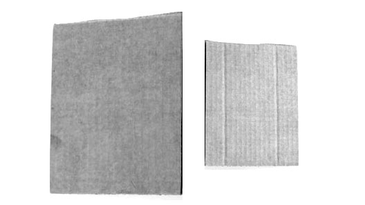 2 отреза картона для проверки состава