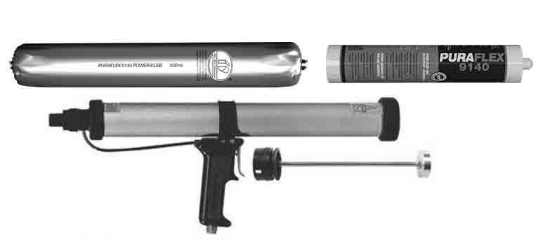 Вставить фольгу или картридж с клеем в пистолет