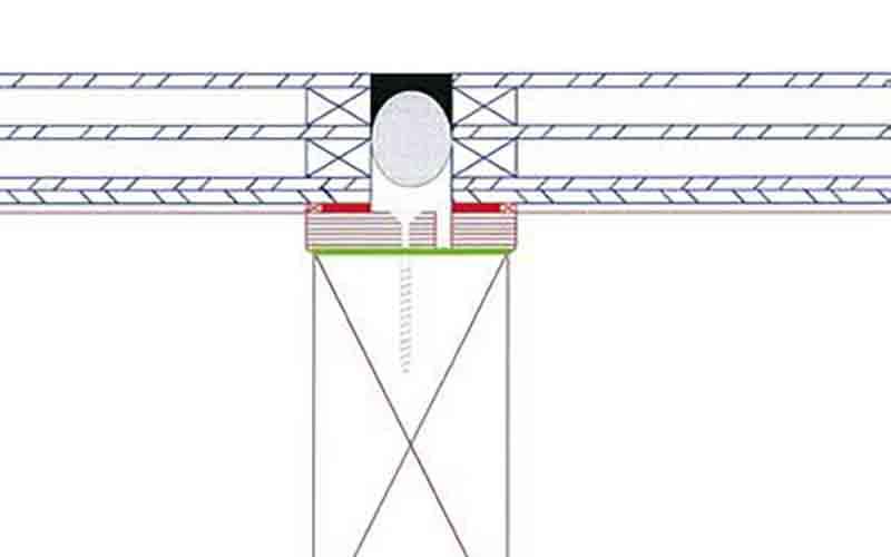 Схематичное изображение среза конструкции