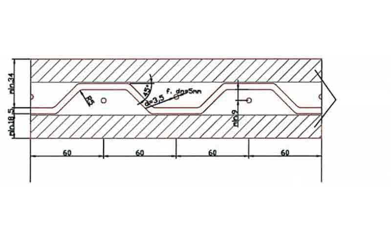 Шаблон соединительной планки для фрезерования