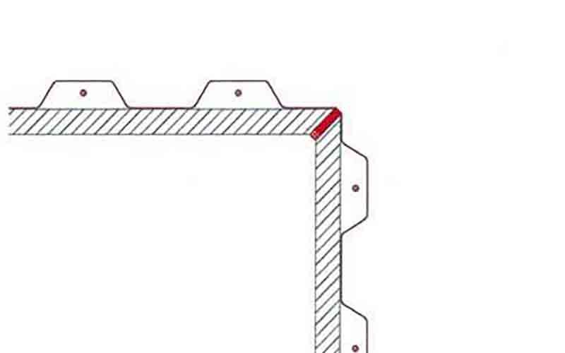 Фиксация соединительной планки по периметру стеклопакета силикон на углах