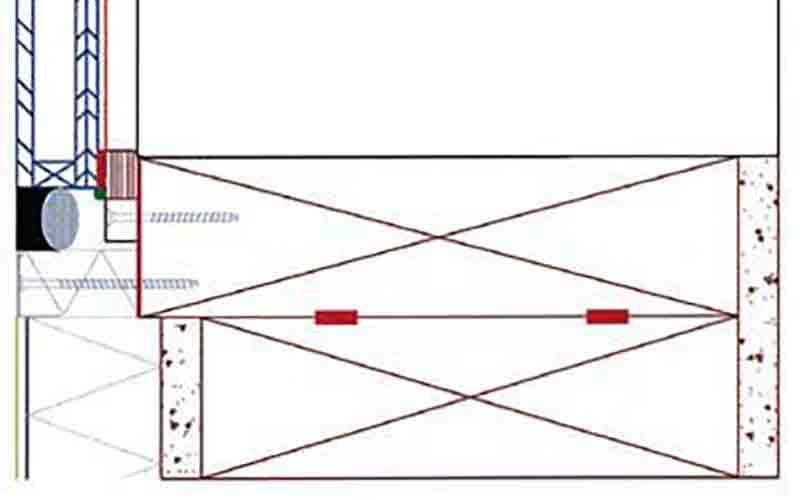 Монтаж стеклопакетов к стойкам через соединительные планки