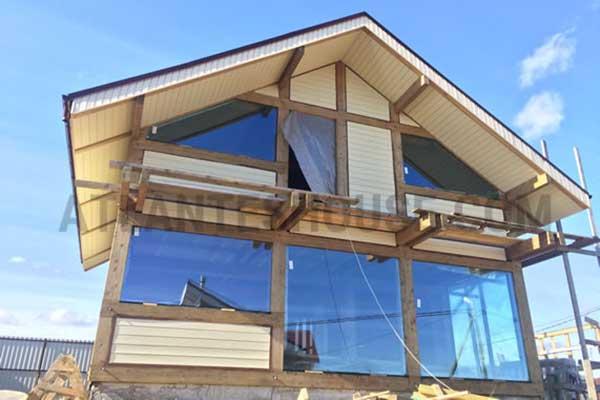 наружная и внутренняя отделка стен, стеклянные витражи, стоечно-ригельные фасады и крыши