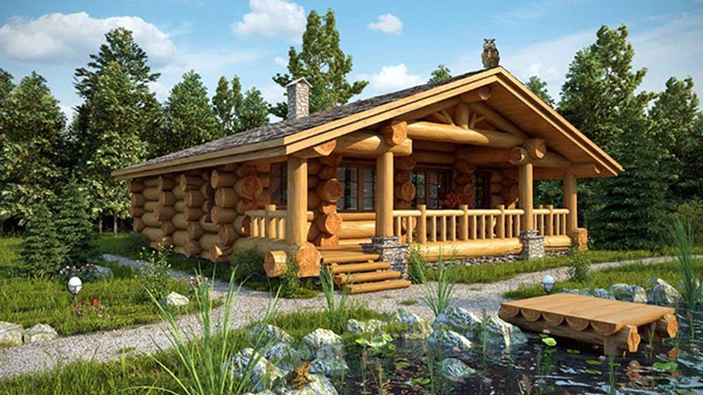 Любой деревянный дом, особенно, построенный из оцилиндрованного бревна