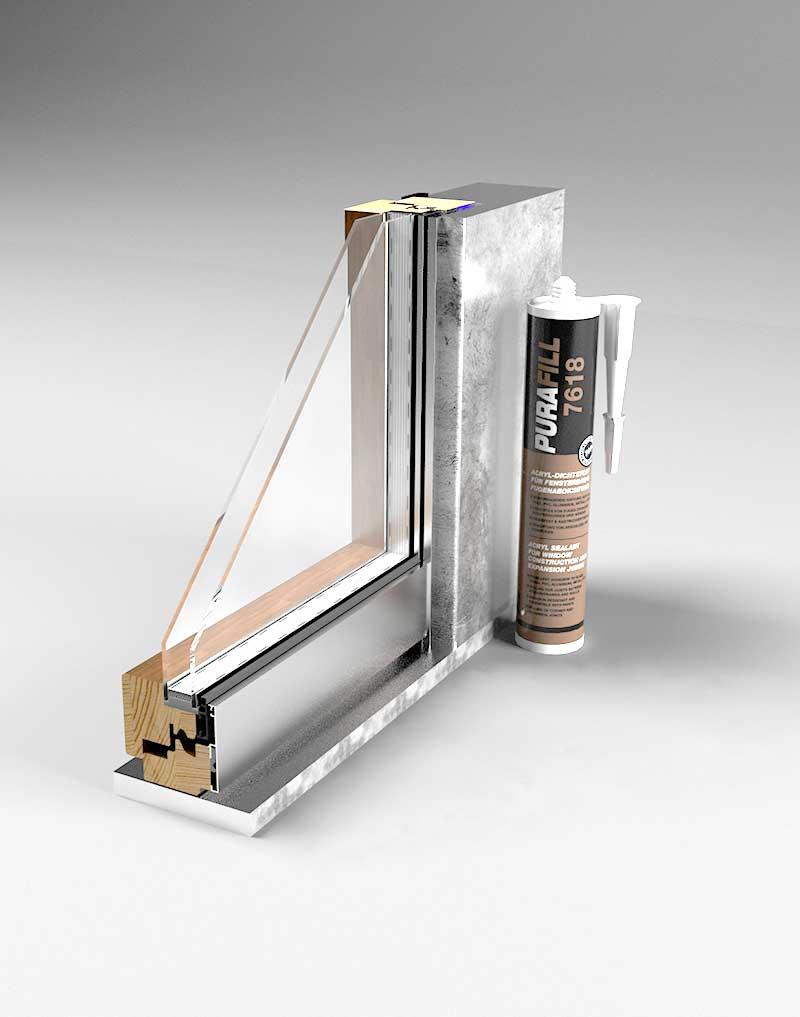 Уплотнение профильных стыков в защите алюминия