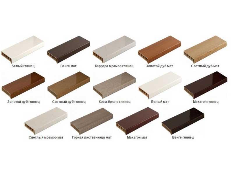 герметика Ramsauer 440 на различных типах цветных подоконников Möller