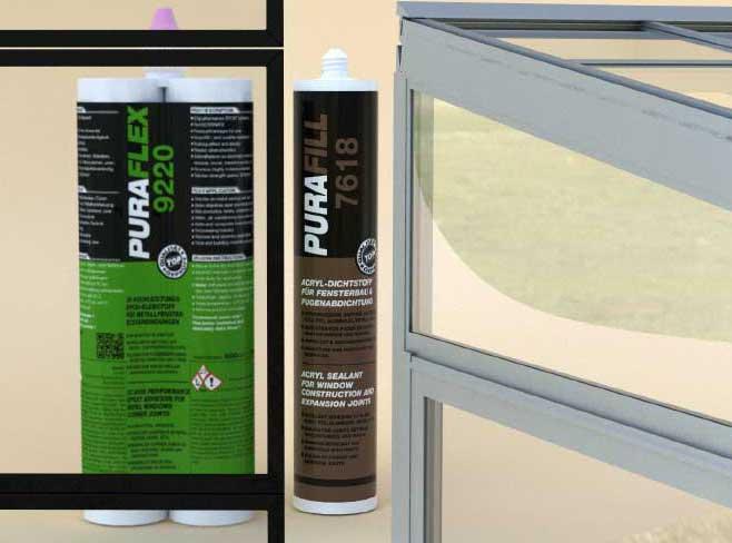 Клей для склеивания угловых соединений в производстве окон и дверей из алюминия
