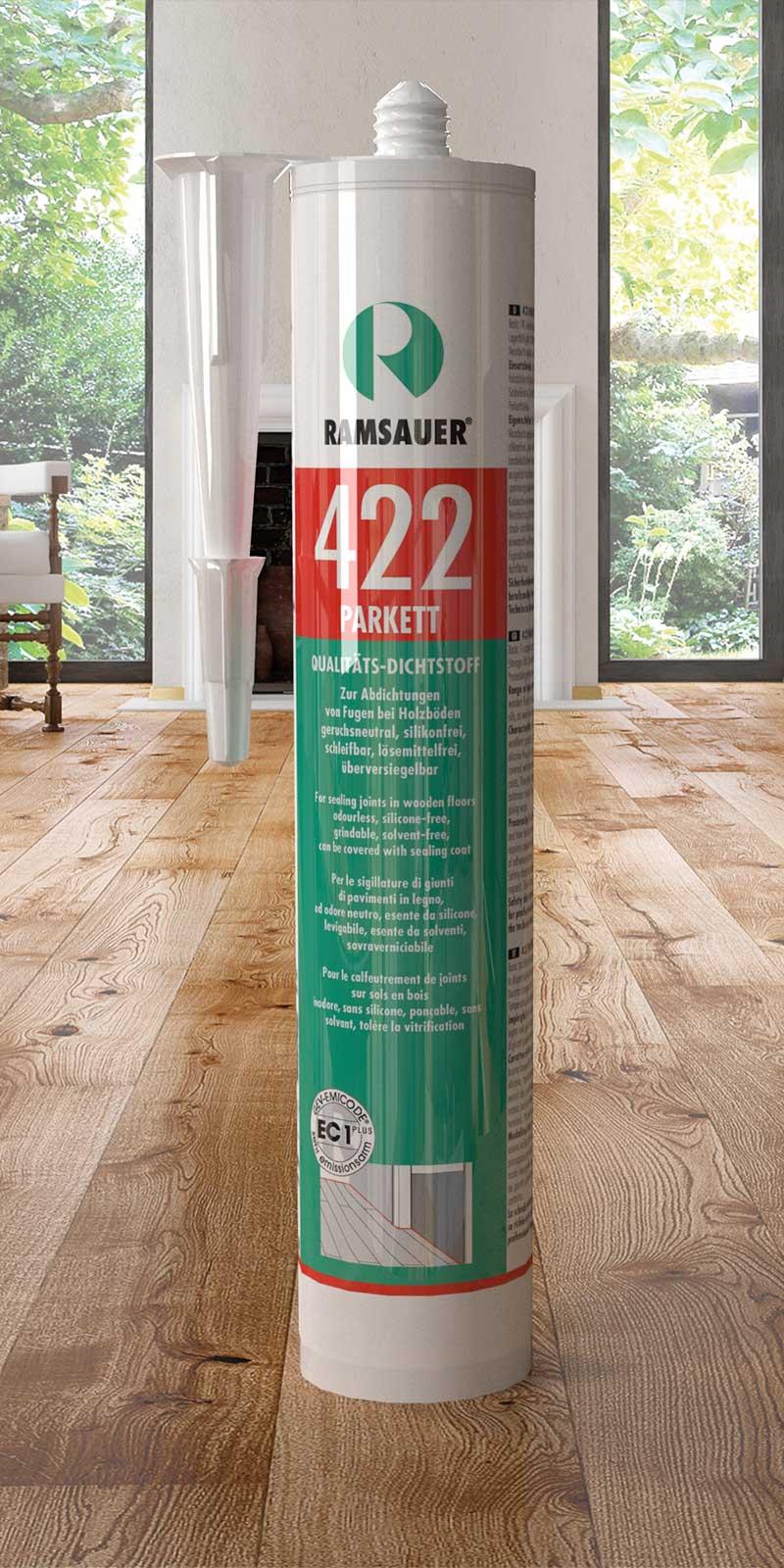 герметика RAMSAUER® 422 PARKETT для ламината и пробки