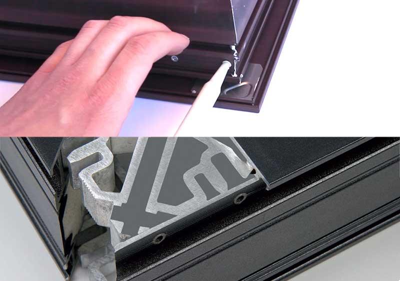 Системное склеивание угловых соединений в производстве окон и дверей из алюминия Источник: http://sdm-chem.ru/po_itogam_vistavki_mosbuild_2019/