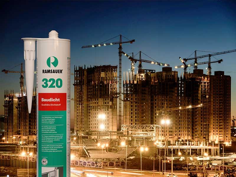 качественными герметиками для строительных швов Ramsauer® 320 BAUDICHT