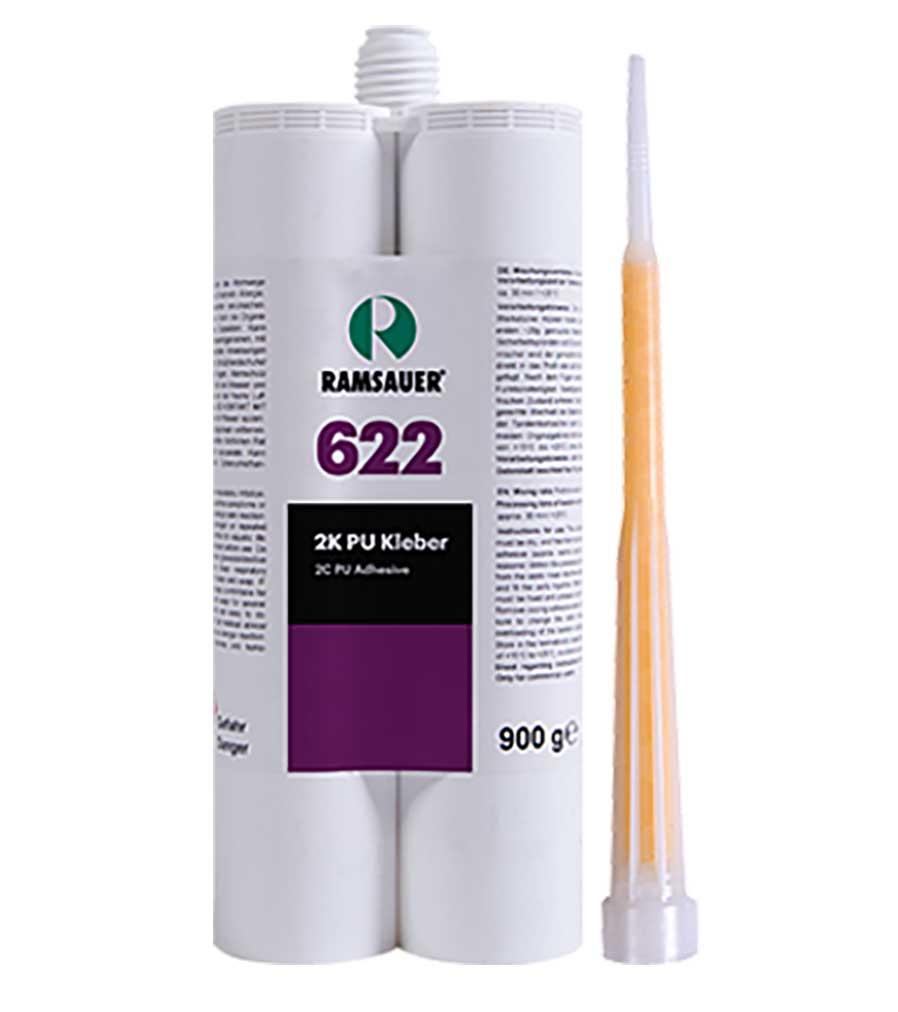 2К Ramsauer® 622 PU KLEBER - Мощный жесткий быстро отвердевающий 2К полиуретановый клей