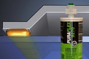Значение совместимости 2К клея для вклеивания PURAFLEX® 9270 с вторичной герметизацией стеклопакета
