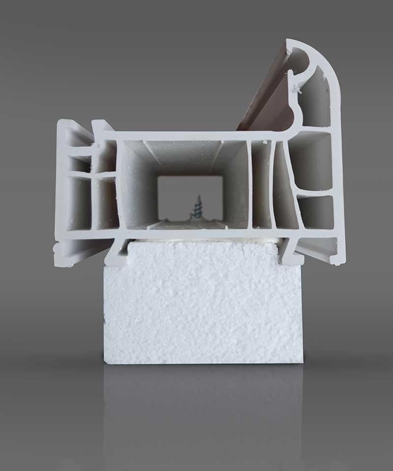 Монтажный подоконный профиль под коробку из ПВХ