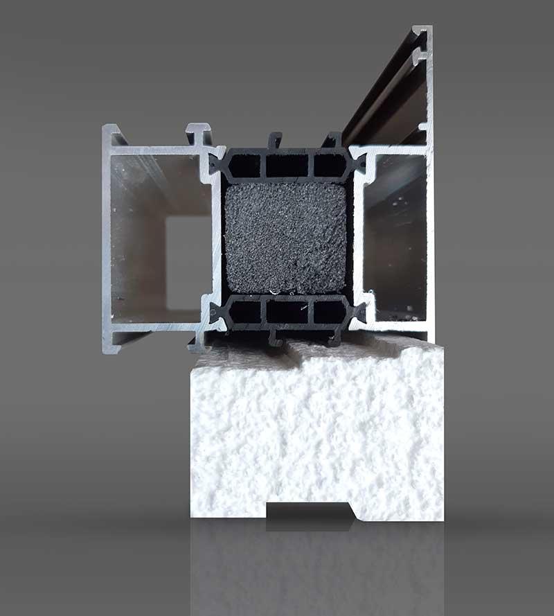 Монтажный подоконный профиль под коробку из алюминия