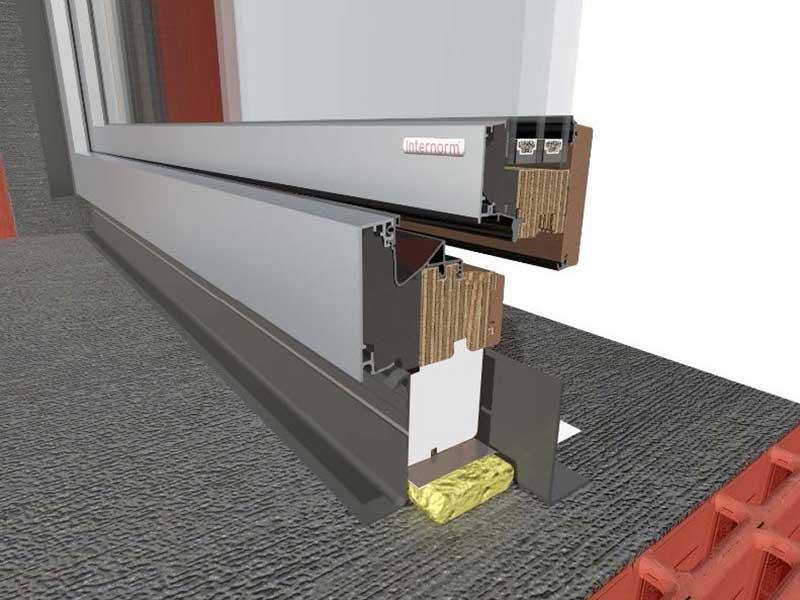 герметизация термо подставки под окно
