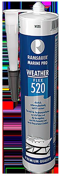 520 WEATHER FLEX - Силиконовый прозрачный герметик для склейки стекла